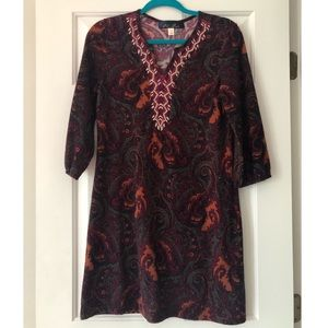 Paisley dress with beading